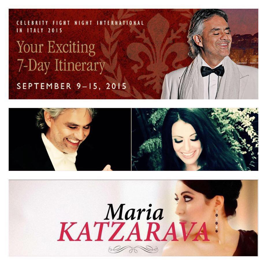 Maria Katzarava and Andrea Bocelli